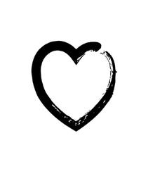 heart shape symbol love black vector image