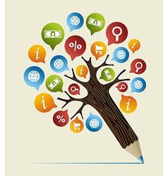 Research studies concept pencil tree vector image