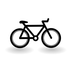 bicycle icon isolated on white vector image