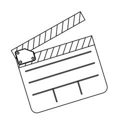 clapper board film icon vector image