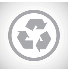 Grey recycle sign icon vector image