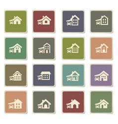 House type icon set vector