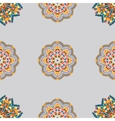 seamless pattern with elements of Mandala style vector image vector image