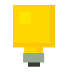 Square light bulb icon cartoon style vector
