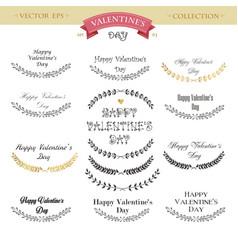 Valentines day lettering design set calligraphic vector