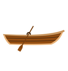 boat with paddle icon flat style vector image
