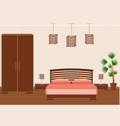 brutal spartan style bedroom interior with vector image vector image