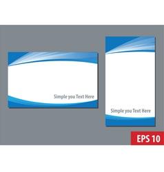 business namecard templates vector image