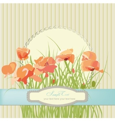 flowers poppies floral pattern vector image