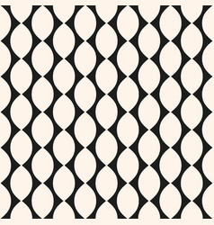 geometric seamless pattern with ovate shapes vector image vector image