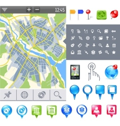 map-icon-gps vector image