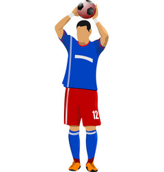 player preparing to throw the ball from the out vector image vector image