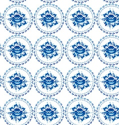Vintage shabby Chic Seamless ornament pattern blue vector image