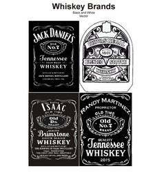 whiskey brand black and white vector image