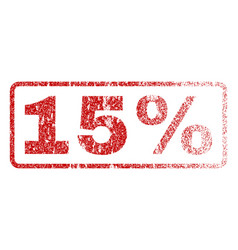 15 percent rubber stamp vector