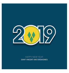 2019 saint vincent and grenadines typography vector image