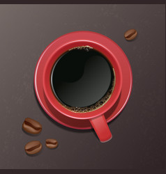 A realistic cup of coffee with vector