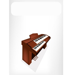 A Retro Pipe Organ with A White Banner vector image