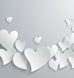 Abstract White Paper Hearts vector image