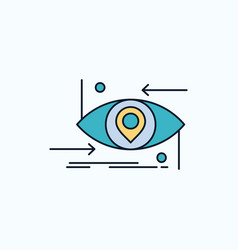 Advanced future gen science technology eye flat vector