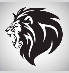 angry lion roaring logo mascot design vector image