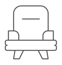 armchair thin line icon furniture and home chair vector image