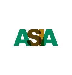 asia phrase overlap color no transparency concept vector image