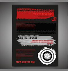 Automotive tire leaflet vector