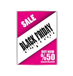 black friday flyer template eps file vector image
