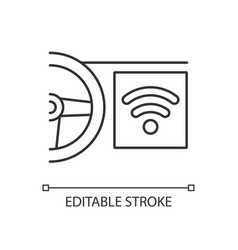 built in wifi hotspot linear icon vector image