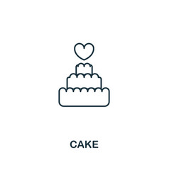 Cake outline icon premium style design from vector