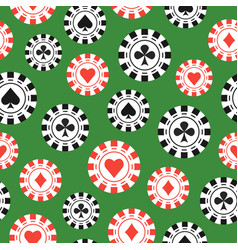 casino game chips flat style seamless pattern vector image