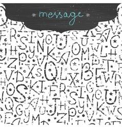Chalkboard alphabet letters horizontal frame vector image