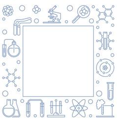 chemistry outline square frame chemical vector image