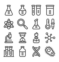 chemistry science laboratory outline icon vector image
