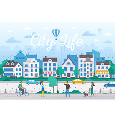 city life - modern flat design style vector image