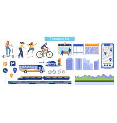 city transportation flat vector image