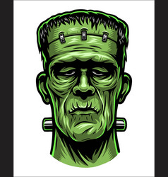 Color of frankenstein head vector