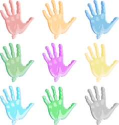 Colorful hand vector