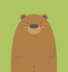 cute big brown bear vector image