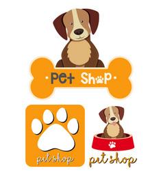 different designs of logo for petshop vector image