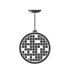 disco ball icon on white background vector image