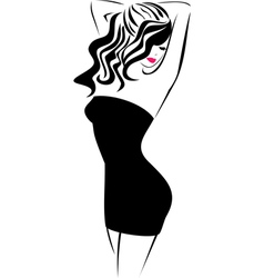 Fashion icon Girl vector image