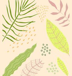 floral flat background design vector image