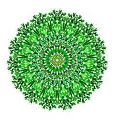 Floral mandala - abstract circular graphic design vector