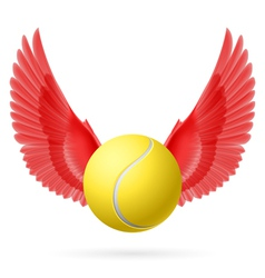 Flying ball vector image