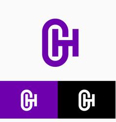 g h logo monogram original symbol web ui icon vector image