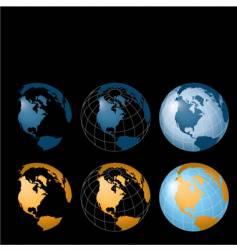 Globe designs vector