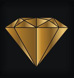 Golden diamond luxury gemstone jewelry logo vector