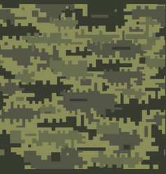 green camouflage seamless pattern vector image